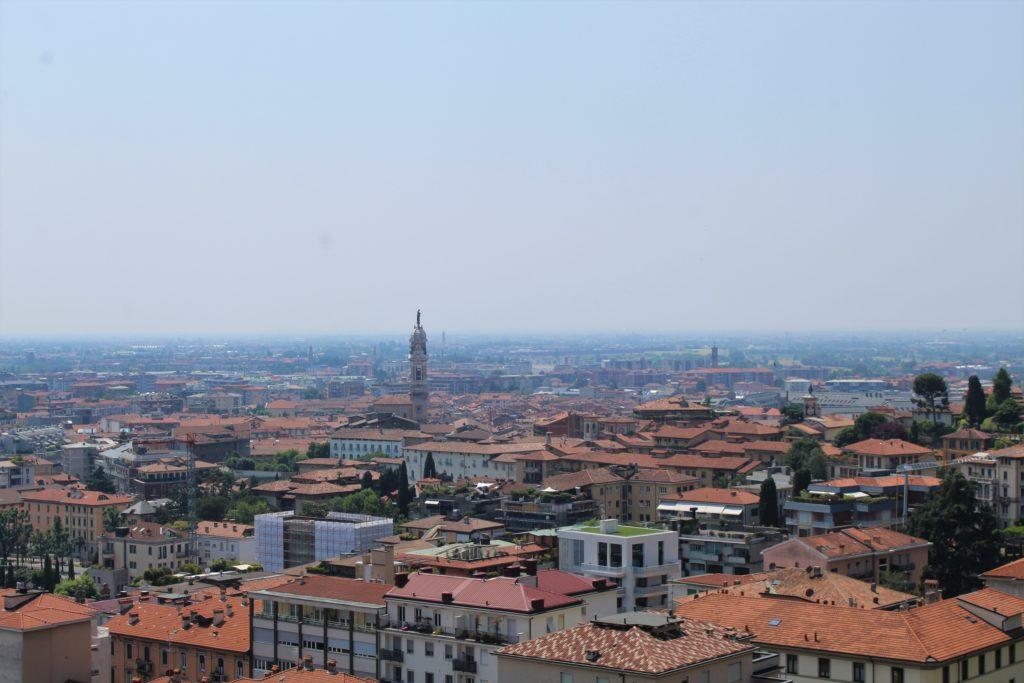 Vista de la Ciudad baja de Bergamo