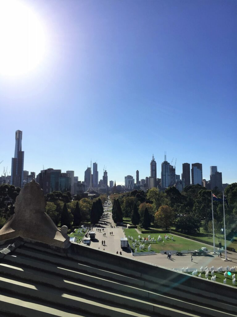 Melbourne CBD desde Shrine of Remembrance